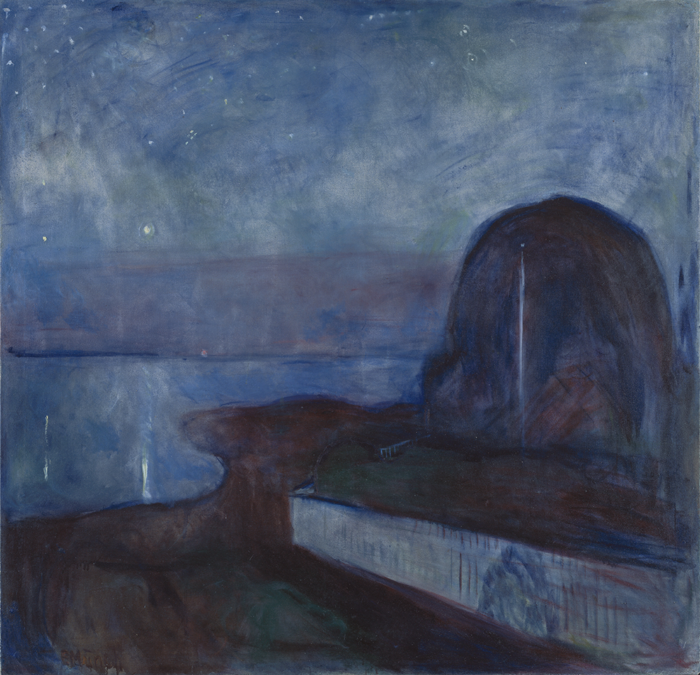 """Starry Night,"" by Edvard Munch, 1893. The J. Paul Getty Museum."