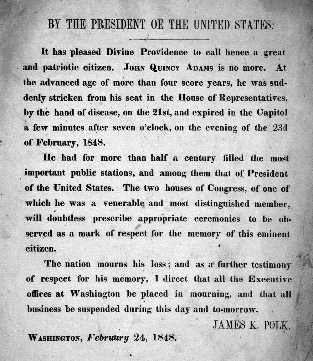 Presidential message from James K. Polk, 1848. Library of Congress, Prints and Photographs Division.