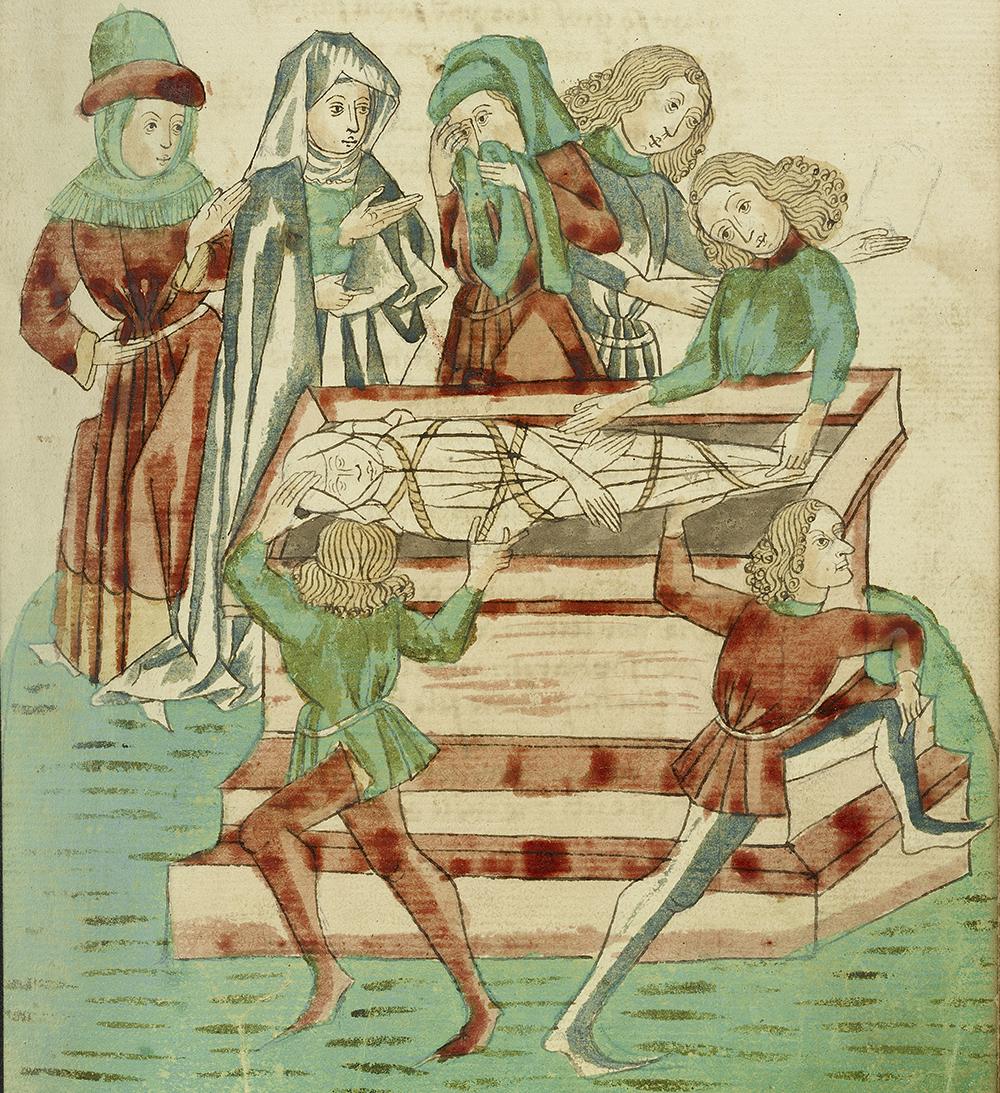 Burial Scene, by follower of Hans Schilling, 1469.
