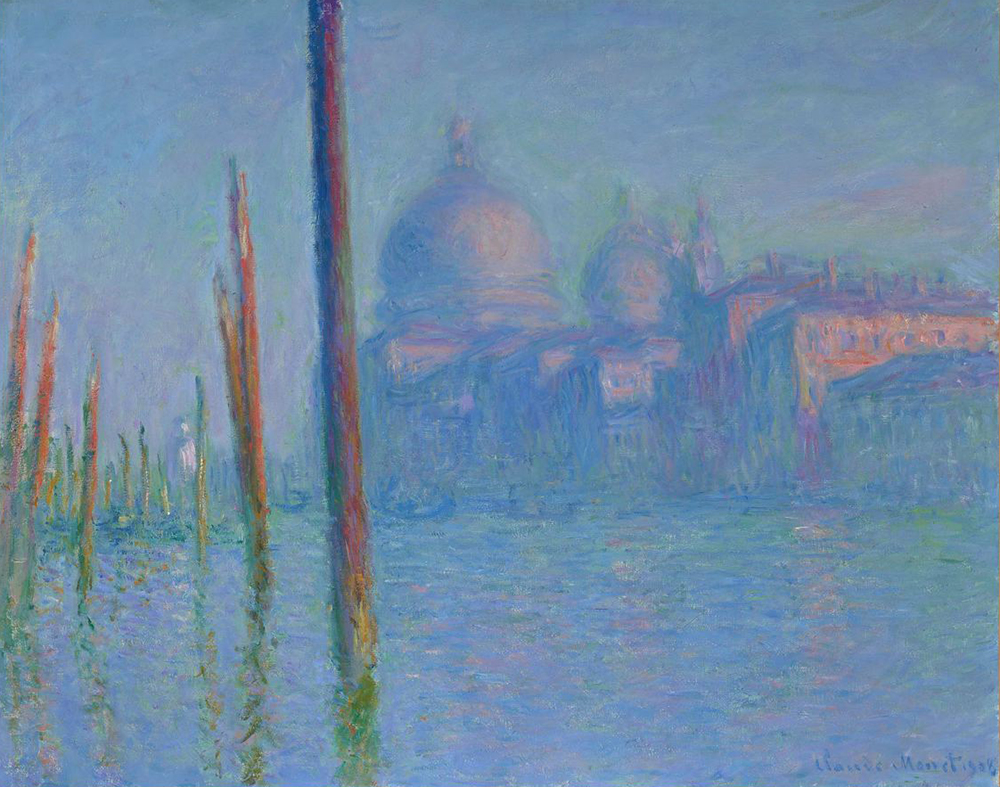 """The Grand Canal, Venice,"" by Claude Monet, 1908. Fine Arts Museums of San Francisco, Gift of Osgood Hooker."