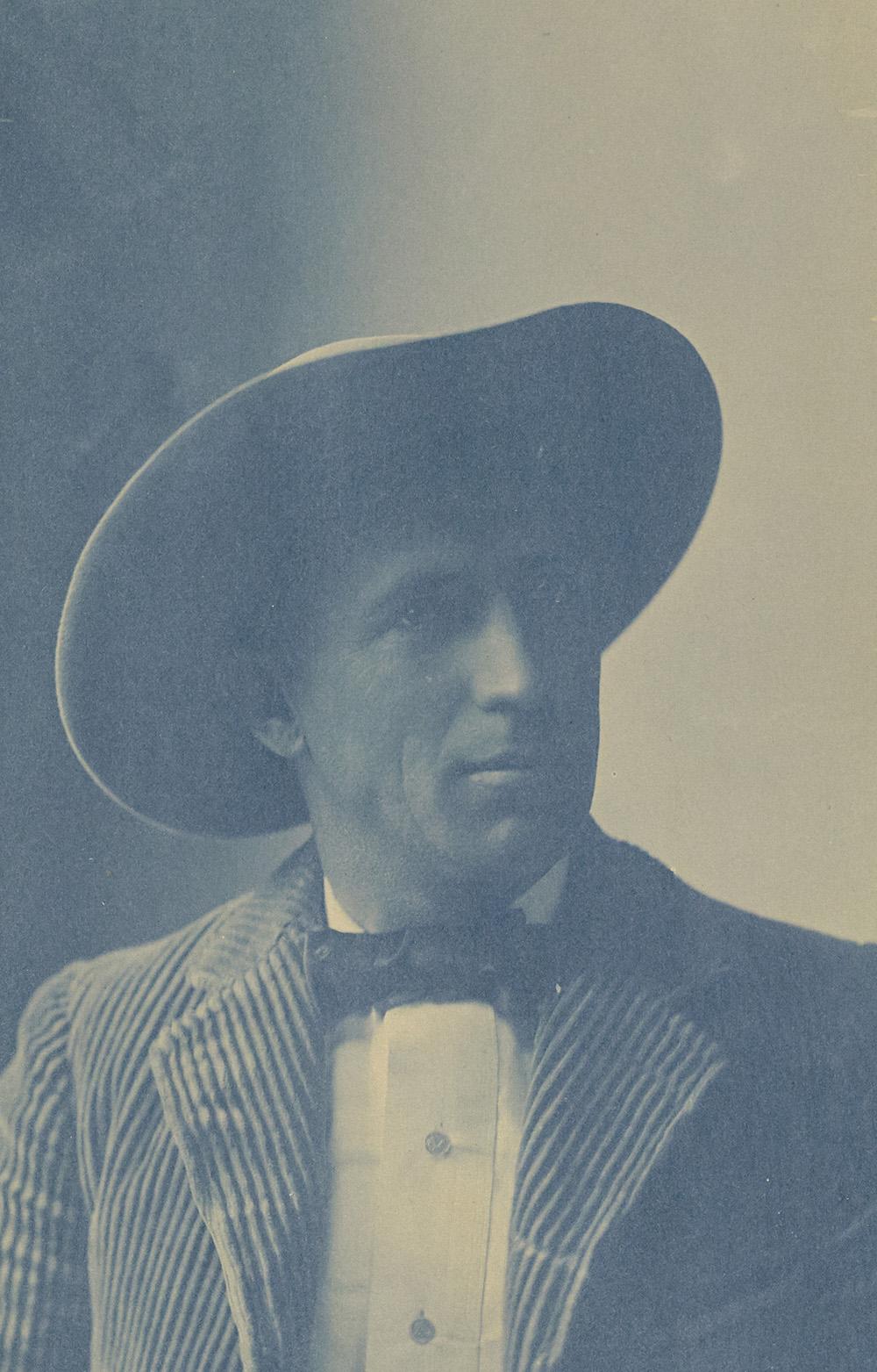 Portrait of Charles Fletcher Lummis, 1897. Photograph by Aemilian Scholl. The J. Paul Getty Museum.
