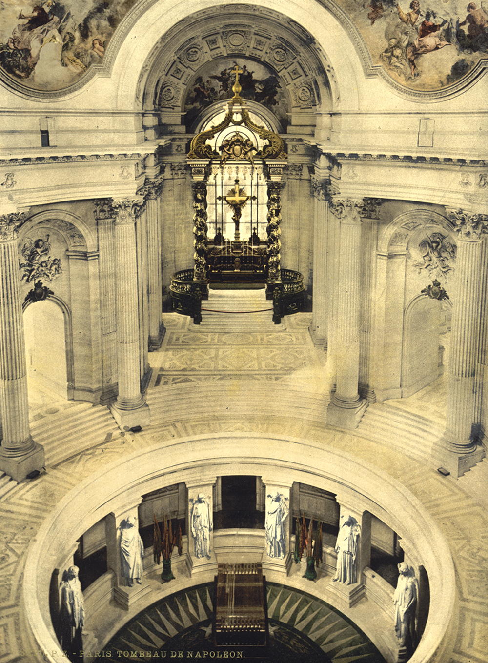 Napoleon's tomb, c. 1890. Photograph by Detroit Publishing Co. Library of Congress, Prints and Photographs Division.