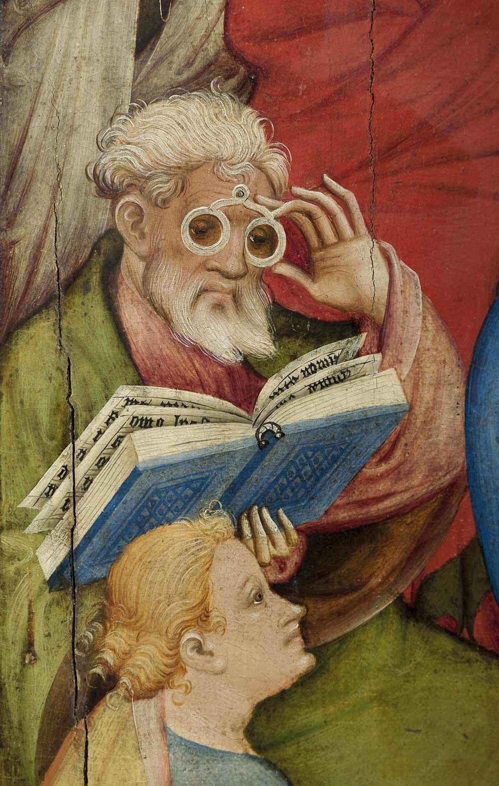 Niederwildungen Altarpiece at Stadtkirche of Bad Wildungen (detail), by Conrad von Soest, 1403.