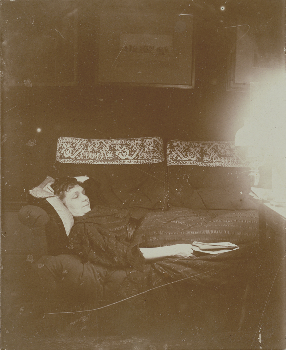 Louise Halévy reclining, 1895. Photograph by Edgar Degas. The J. Paul Getty Museum.