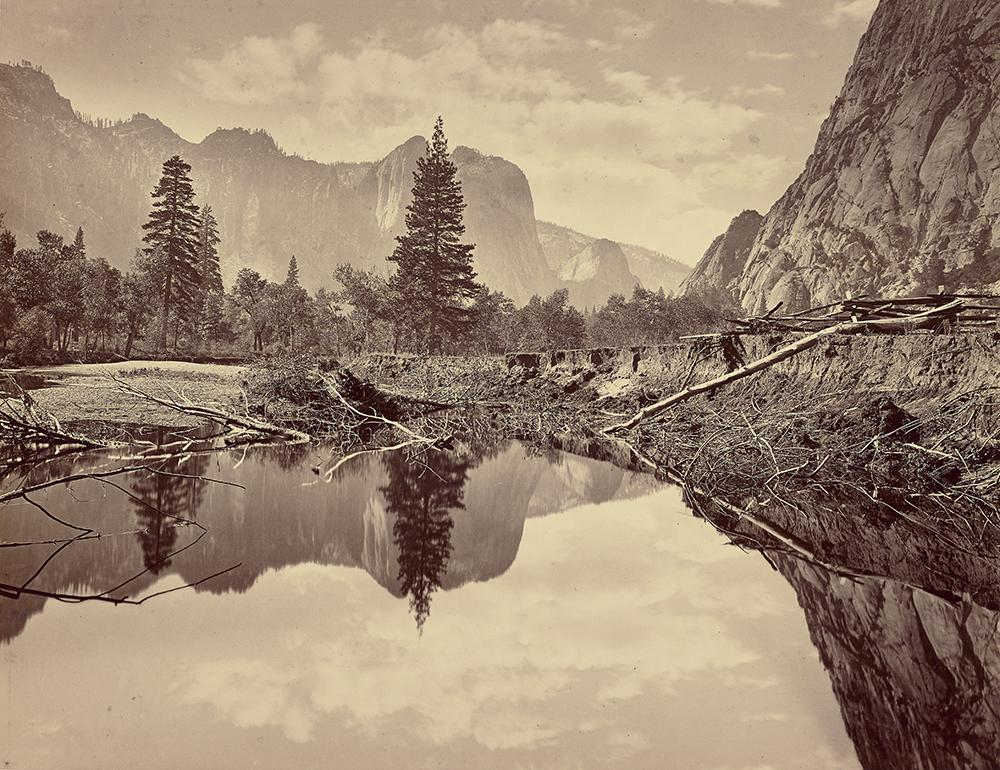 Looking Down Yosemite Valley, c. 1872. Photograph by Thomas Houseworth & Company, Eadweard Muybridge (or Carleton Watkins or C.L. Weed).
