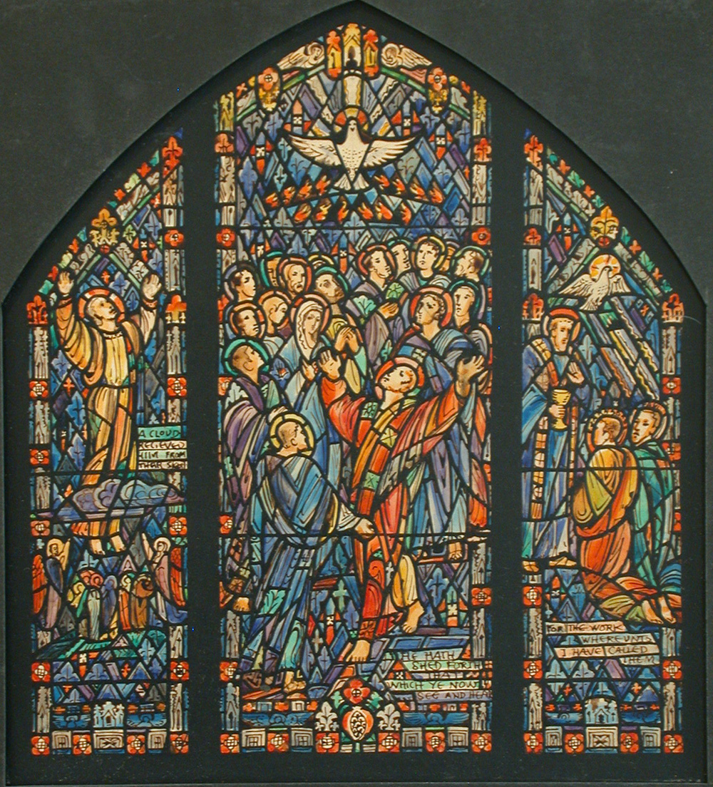 Design drawing for stained glass window, J. & R. Lamb Studios, c. 1900. Library of Congress, Prints and Photographs.