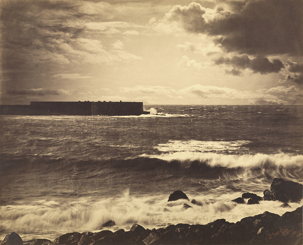 The Great Wave, Sète, c. 1857. Photograph by Gustave Le Gray. The J. Paul Getty Museum , Los Angeles. Digital image courtesy the Getty's Open Content Program.