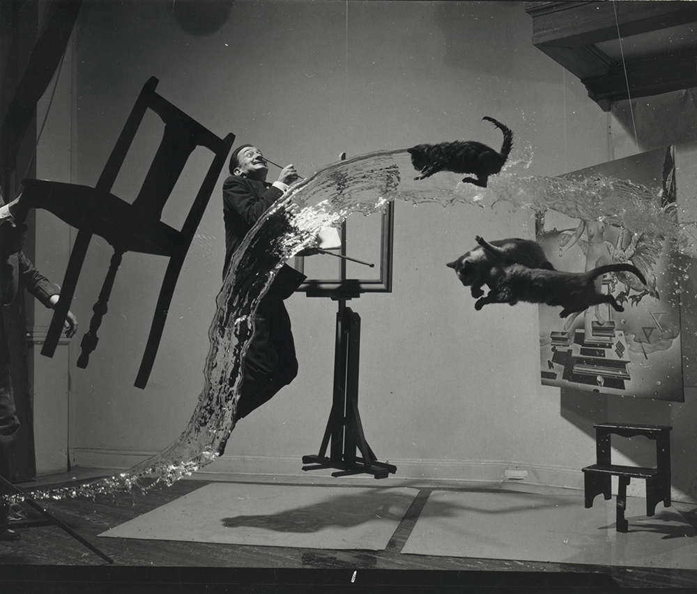 Photograph of Salvador Dalí by Philippe Halsman, c. 1948.