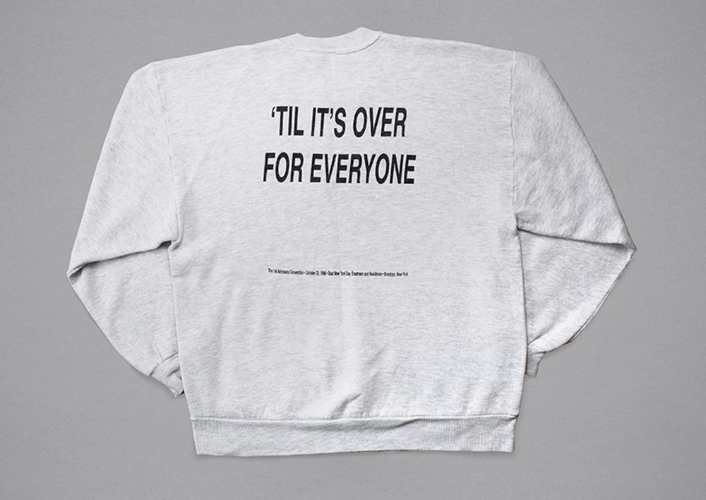 Back of the 1998 sweatshirt.