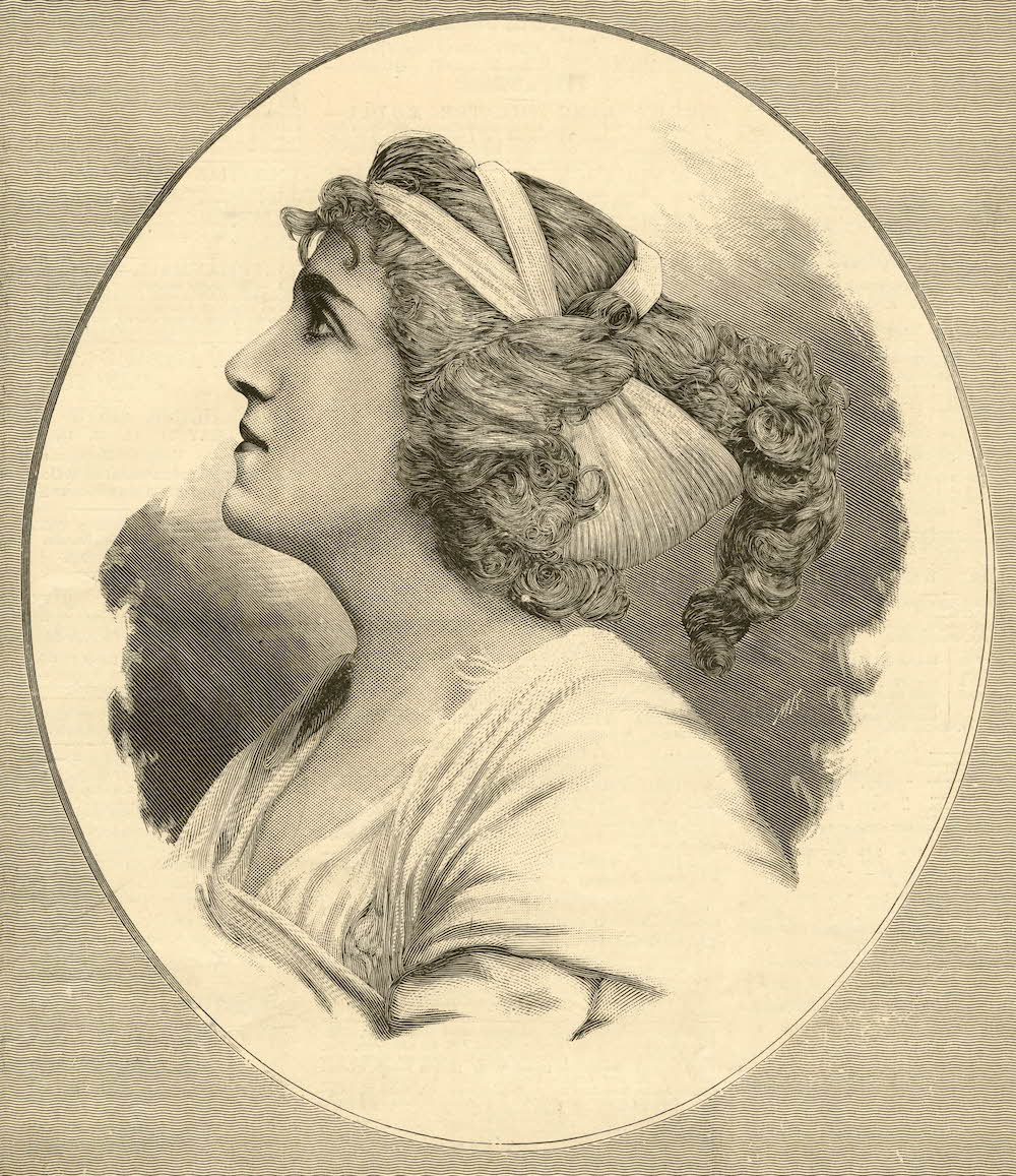 "Miss Julia Neilson as ""Hypatia,"" c. 1890. The British Museum, Prints and Drawings."