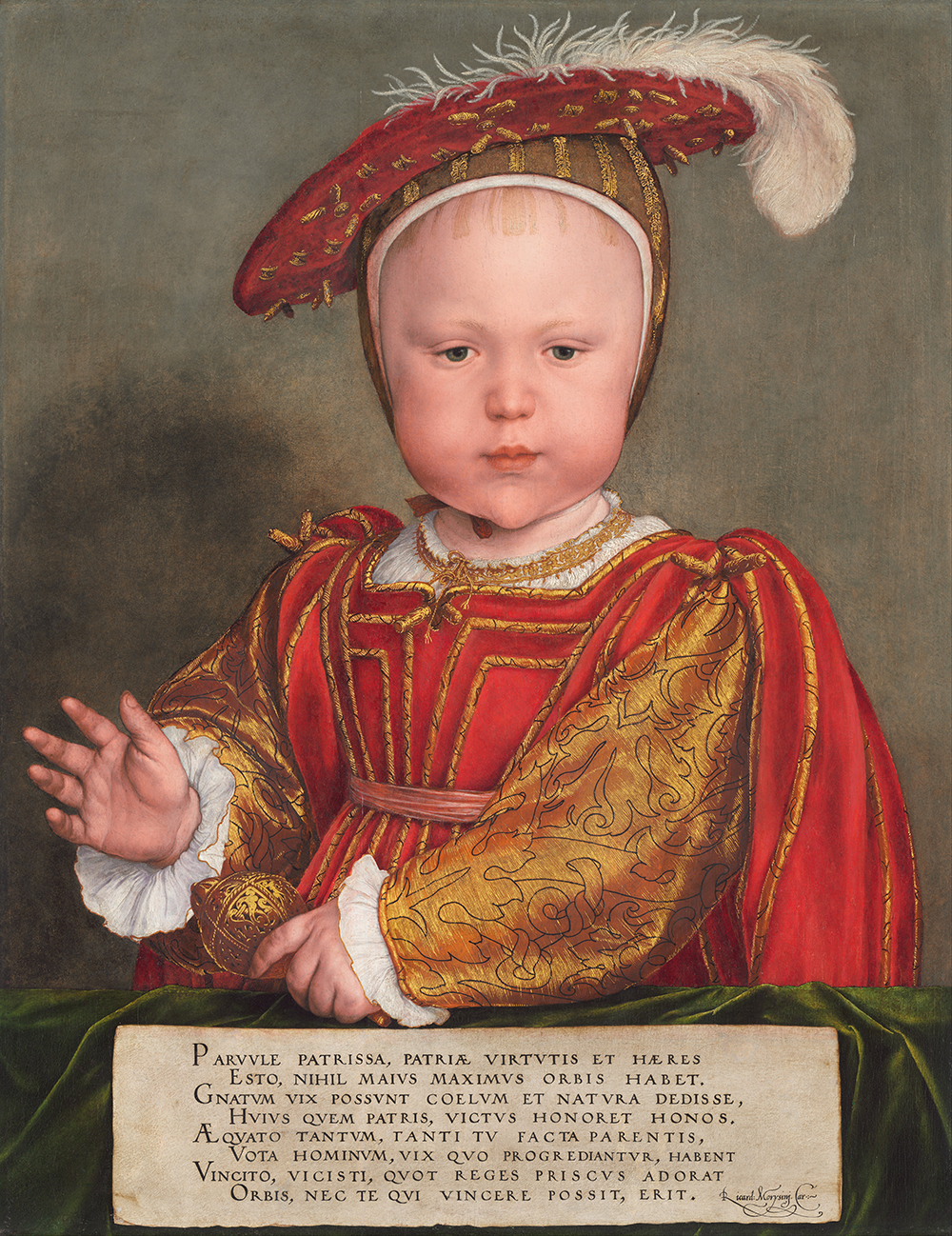"""Edward VI as a Child,"" by Hans Holbein the Younger, probably 1538. National Gallery of Art, Andrew W. Mellon Collection."
