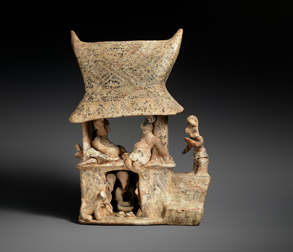 Ceramic house model, Nayarit, Mexico, 100–300. The Metropolitan Museum of Art, the Michael C. Rockefeller Memorial Collection, Bequest of Nelson A. Rockefeller, 1979.