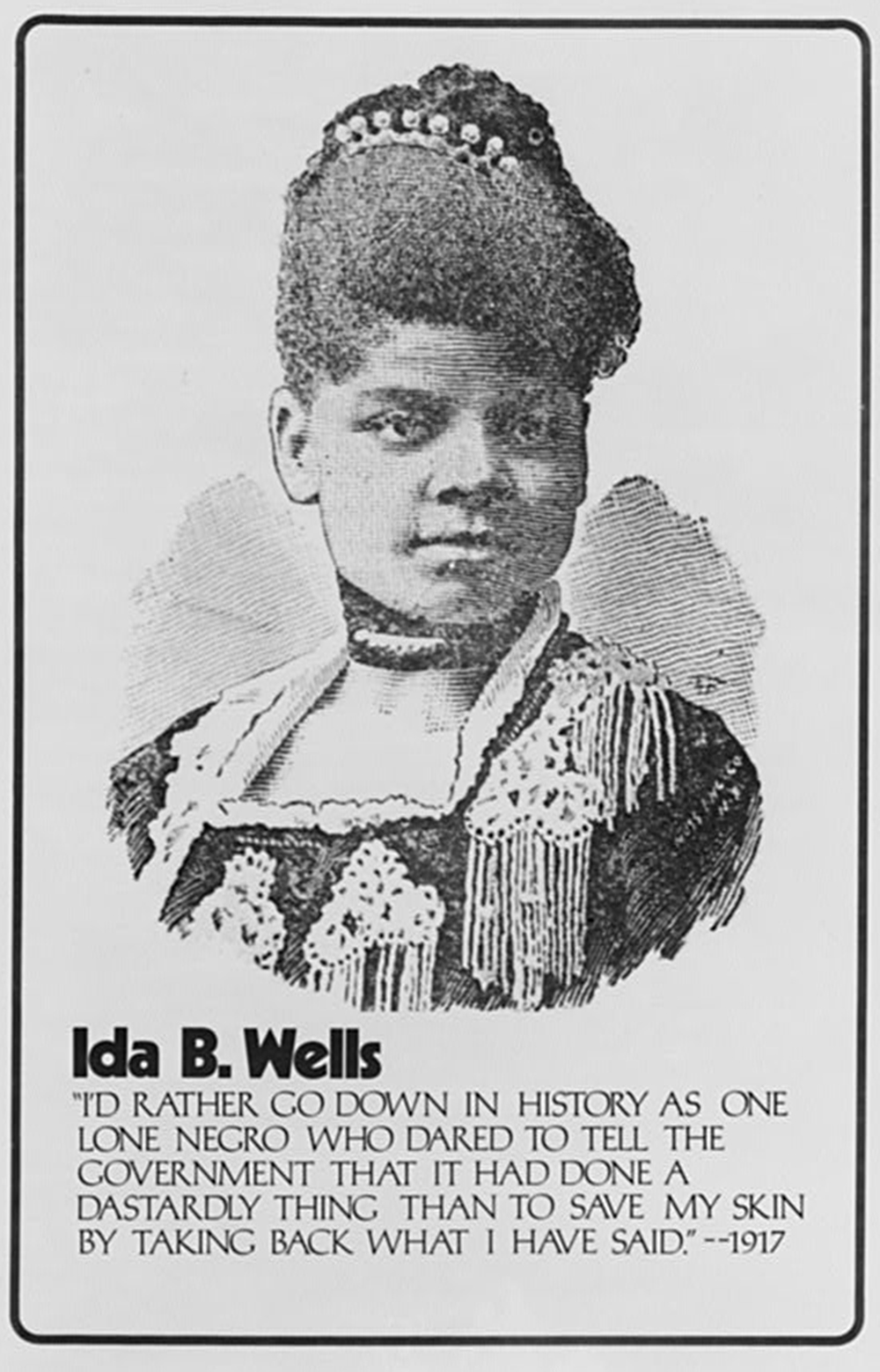 Ida B. Wells, poster produced by Common Cause, c. 1970. Library of Congress, Prints and Photographs Division.