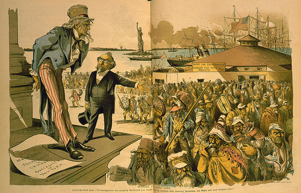 """Where the Blame Lies,"" by Grant E. Hamilton, 1891. Library of Congress, Prints and Photographs Division."