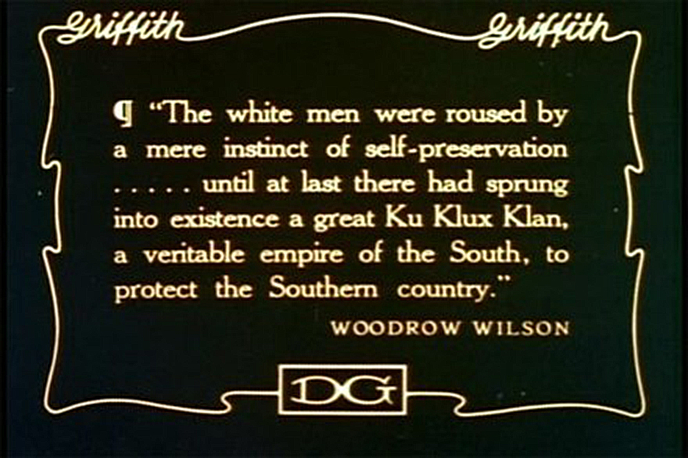 "Title card from ""The Birth of a Nation."""