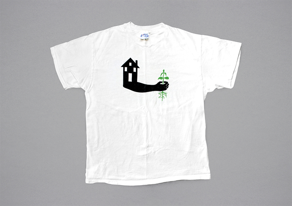 A T-shirt from 1991 with an illustration by artist Anton van Dalen.