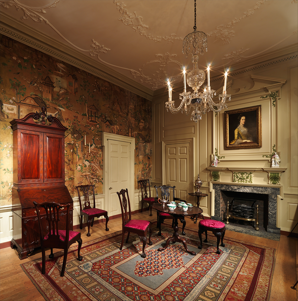 Room from the Powel House, Philadelphia, 1765–66, remodeled 1769–71. The Metropolitan Museum of Art, Rogers Fund, 1918.