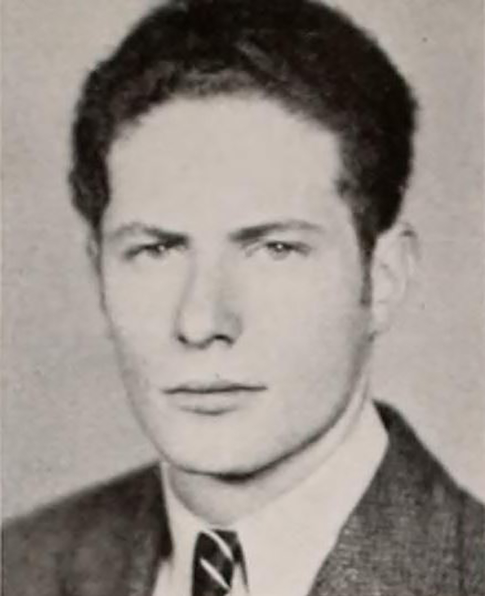 Photograph of Sheldon Harte from the Duke University yearbook of 1937, the year he graduated college.