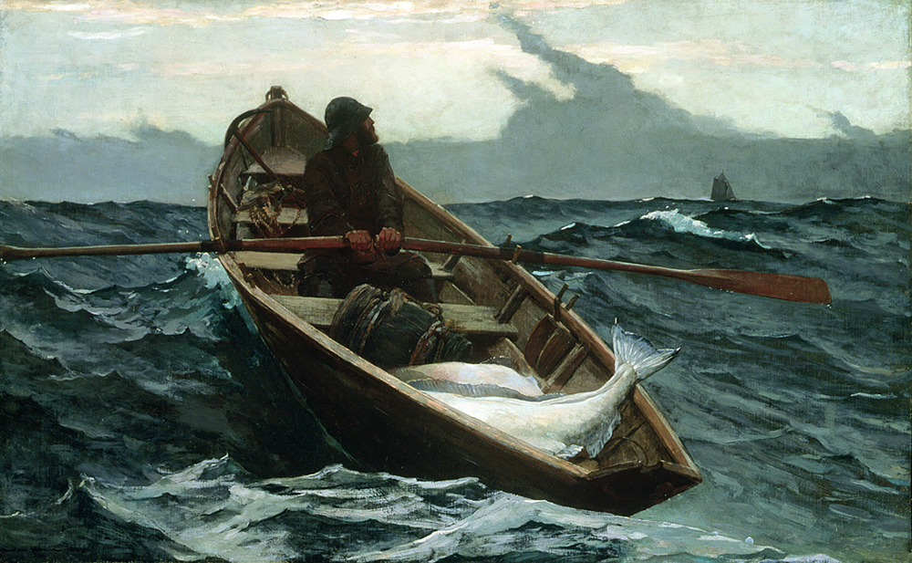 """The Fog Warning,"" by Winslow Homer, 1885. Museum of Fine Arts, Boston. Anonymous gift with credit to the Otis Norcross Fund."