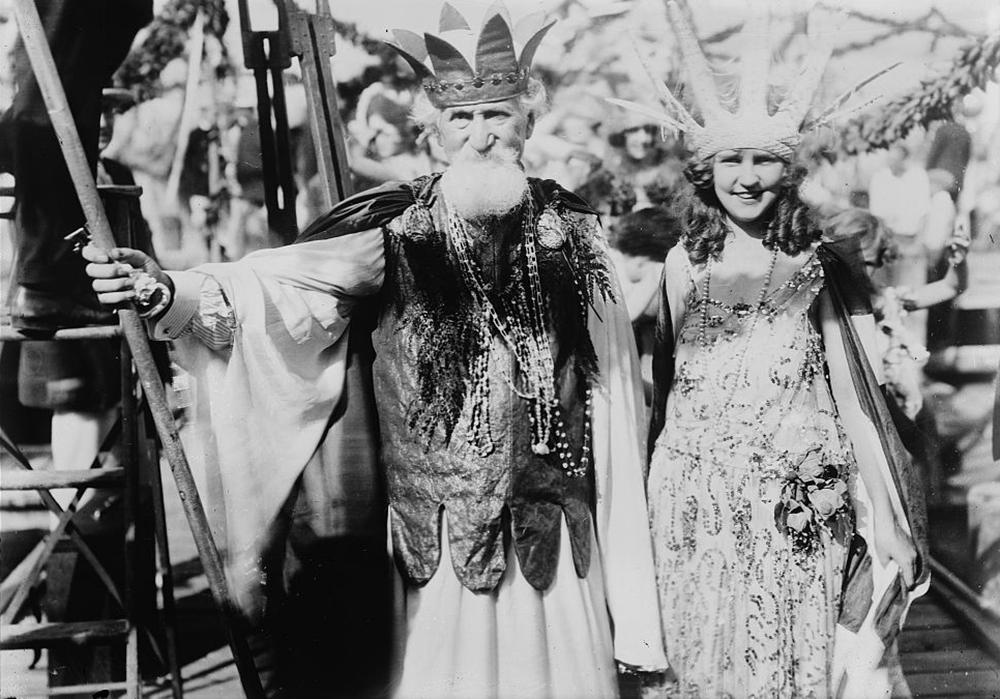 Photograph of Hudson Maxim and Margaret Gorman, c. 1921.