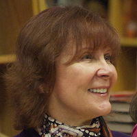 A photograph of Janet Evanovich