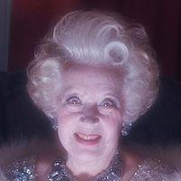 A photograph of Barbara Cartland.