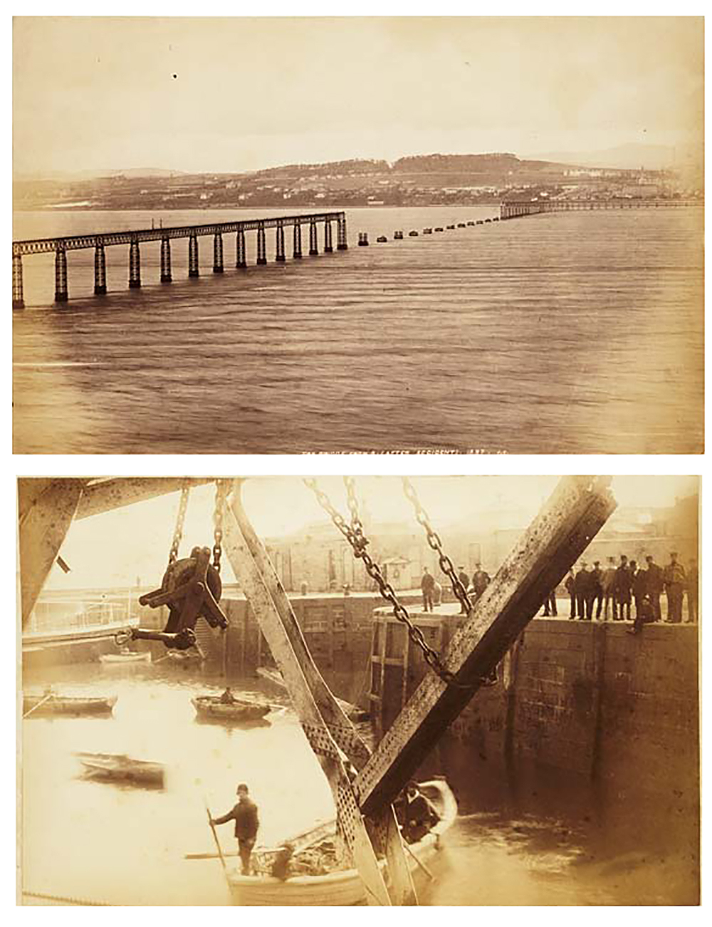 Photographs from the Tay Bridge inquiry, c. 1886. Commissioned by John Trayner. National Library of Scotland (CC BY 4.0).