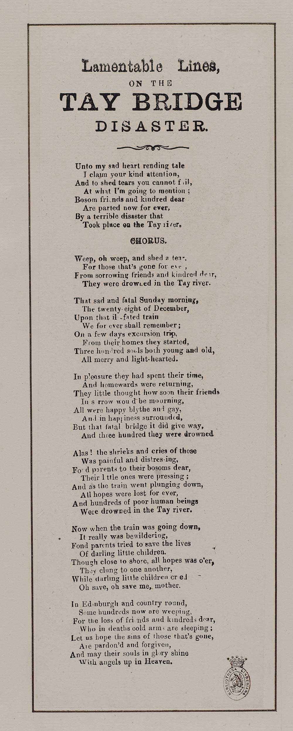 Another contemporaneous example of bad Tay Bridge poetry, from an unnamed poet. National Library of Scotland (CC BY 4.0).