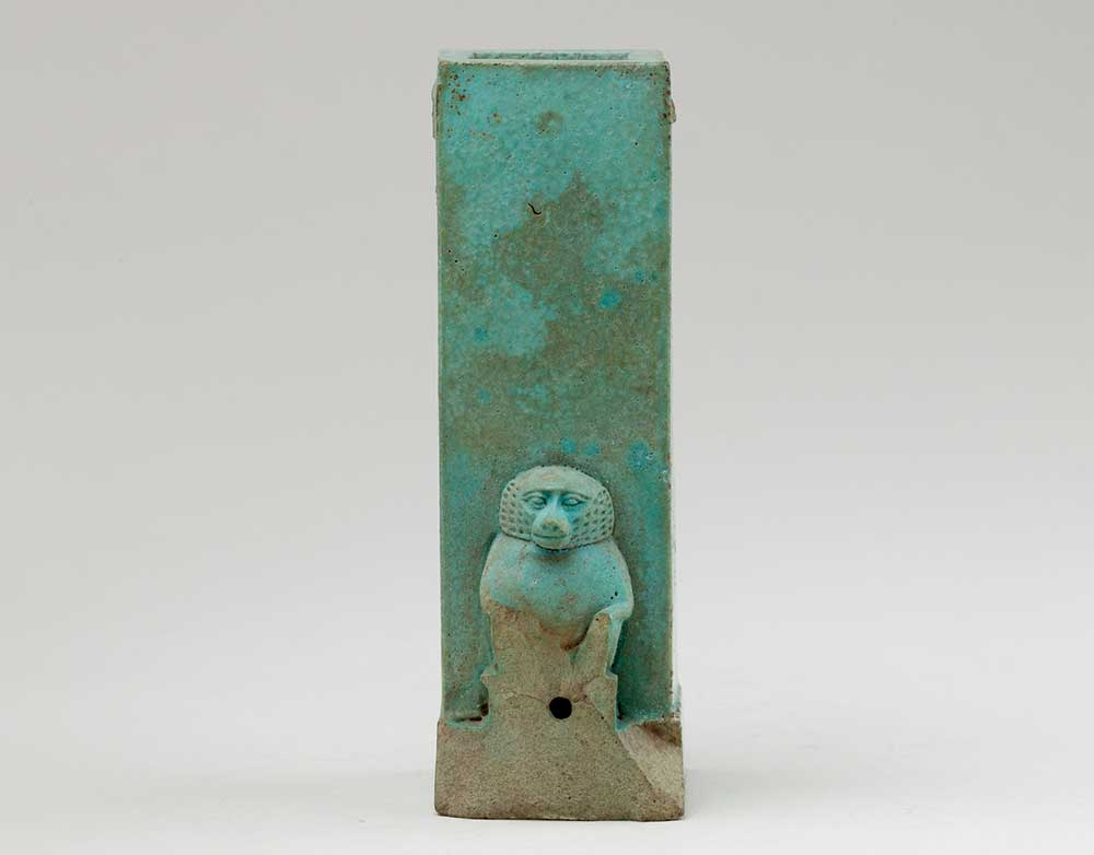 Clepsydra or water clock with squatting baboon, fourth century BC.