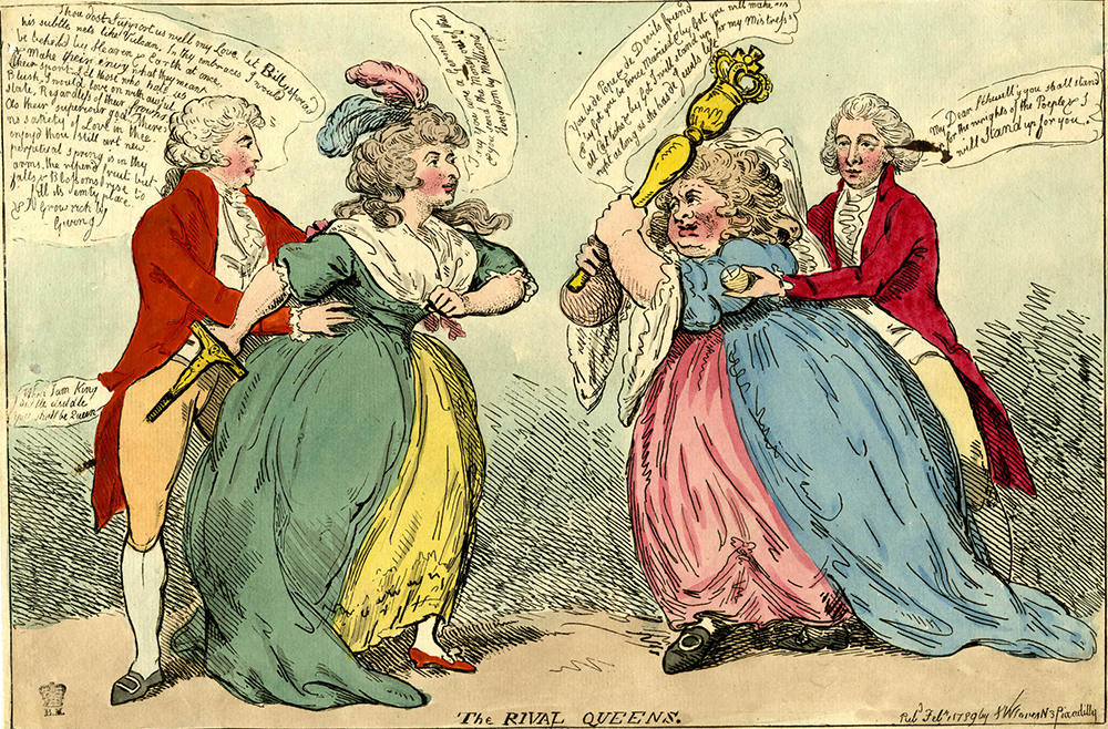 """The Rival Queens,"" 1789. British Museum."