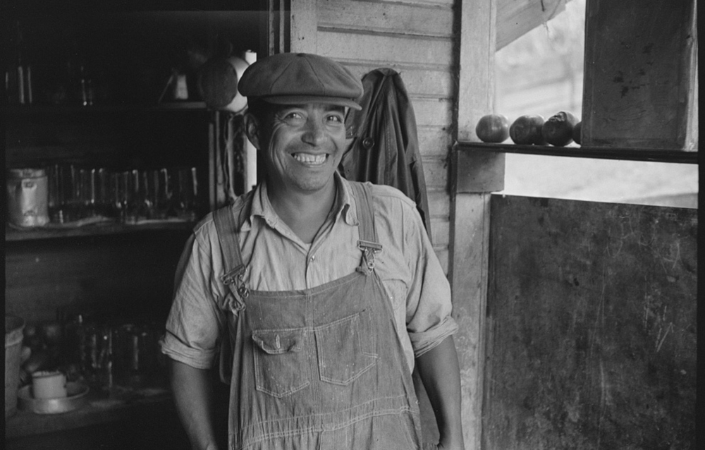 Mexican miner, Bertha Hill, Scotts Run, West Virginia, 1938. Photograph by Marion Post Wolcott. Library of Congress, Prints and Photographs Division.