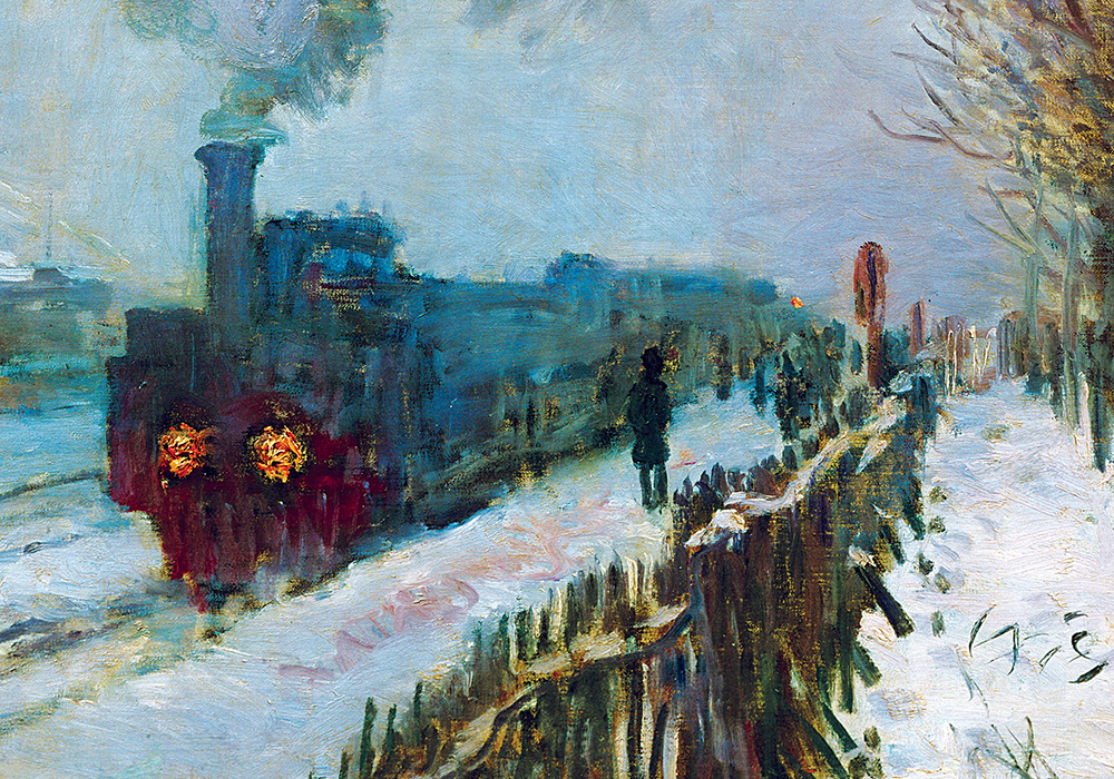 """Train in the Snow,"" by Claude Monet, 1875. Musée Marmottan Monet, Paris, France."