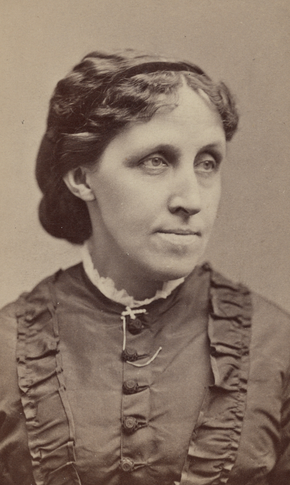 Louisa May Alcott, 1870. Photograph by G.K. Kendall. Library of Congress, Prints and Photographs Division.