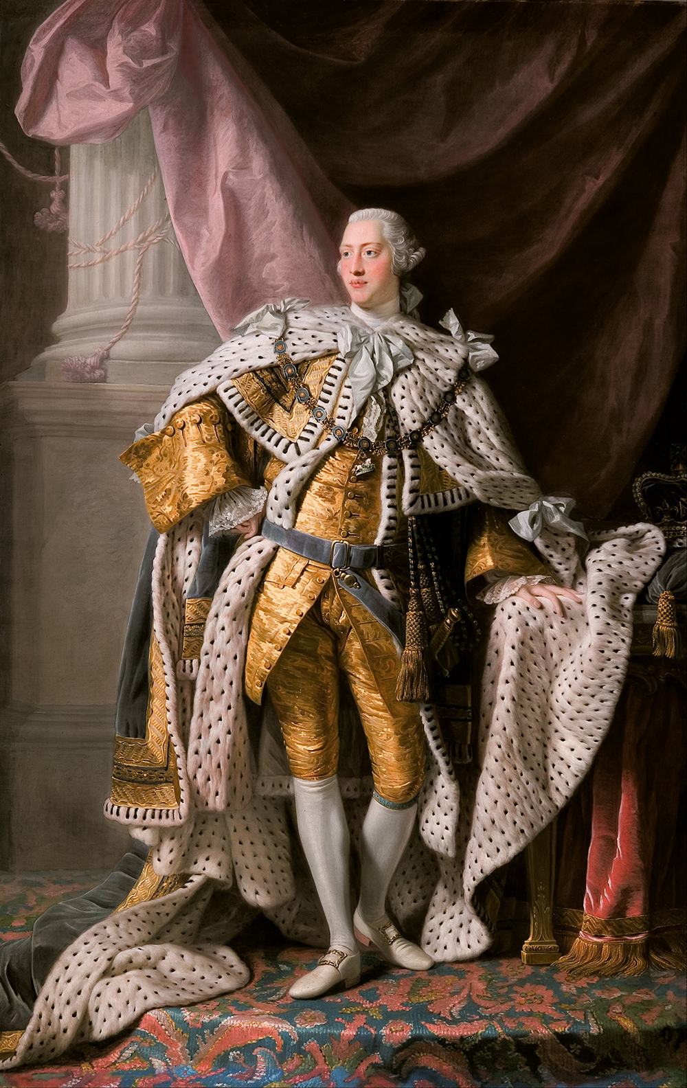 King George III in coronation robes, by Allan Ramsay, c. 1765. Wikimedia Commons, Art Gallery of South Australia.