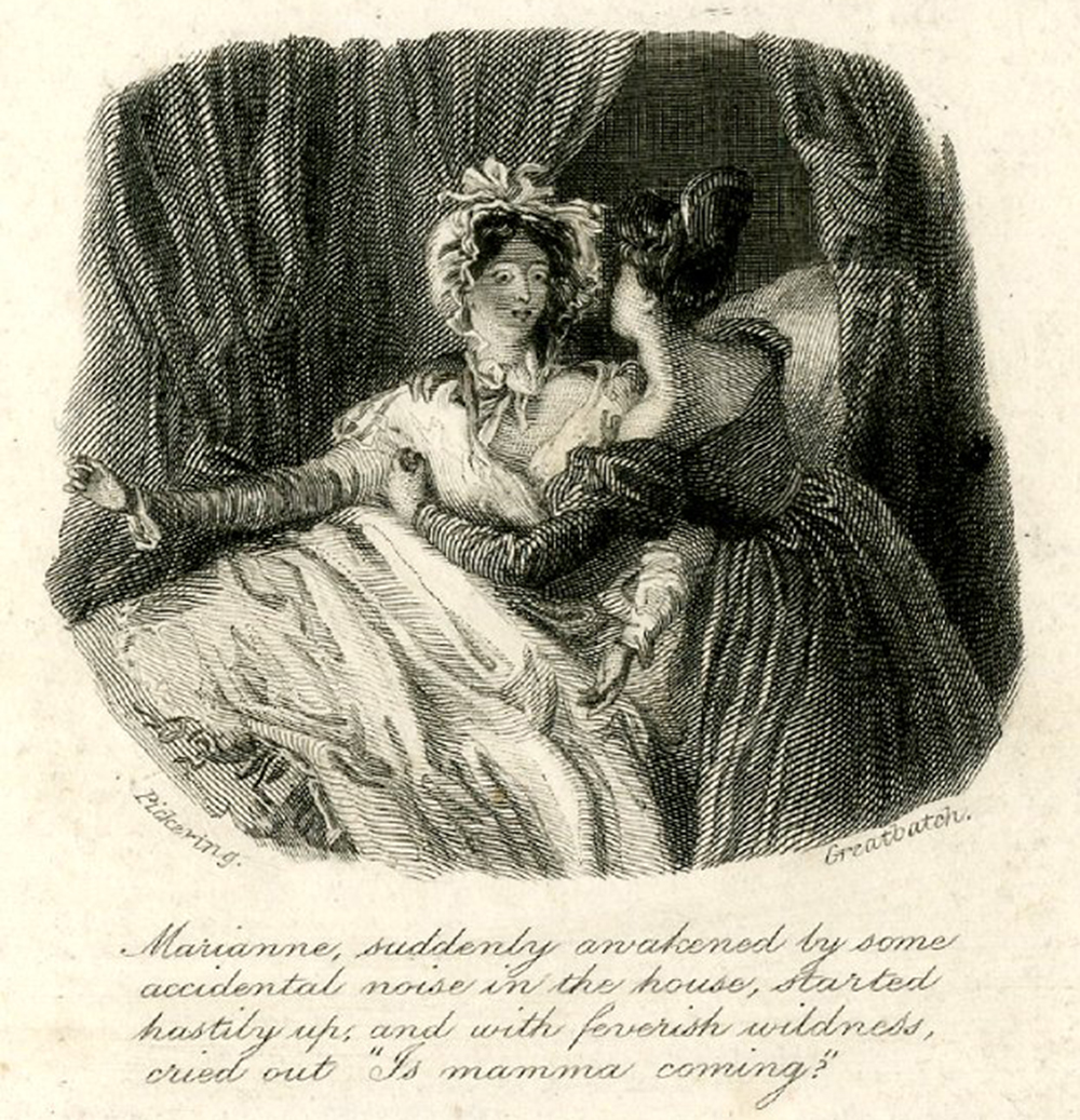"Vignette from title page of Jane Austen's ""Sense and Sensibility,"" 1833. The British Museum."