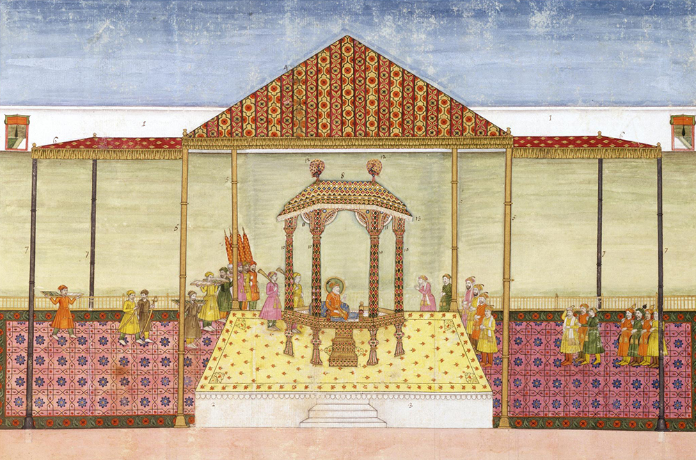 The Mughal Emperor and His Court, c. 1774. Victoria and Albert Museum.