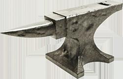 An iron anvil