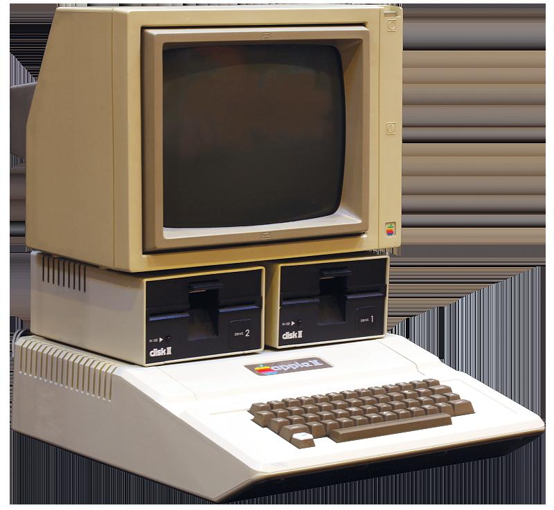 An Apple II computer.