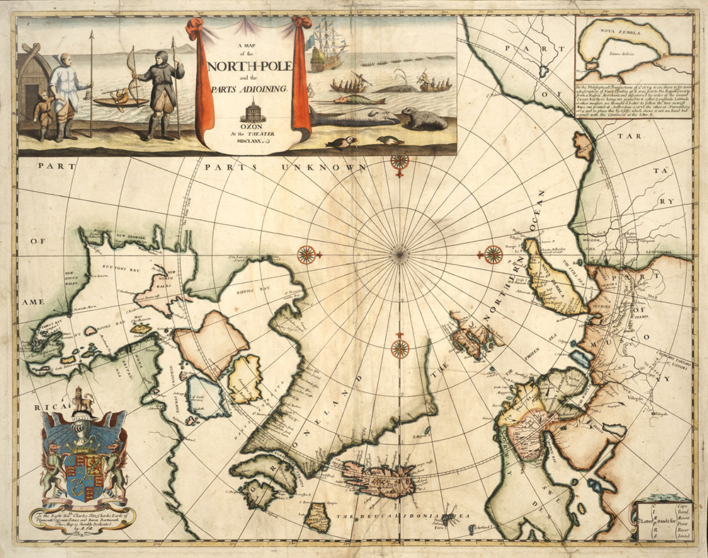A map of the North Pole by Moses Pitt, 1680. Flickr, Toronto Public Library (CC BY-SA 2.0).