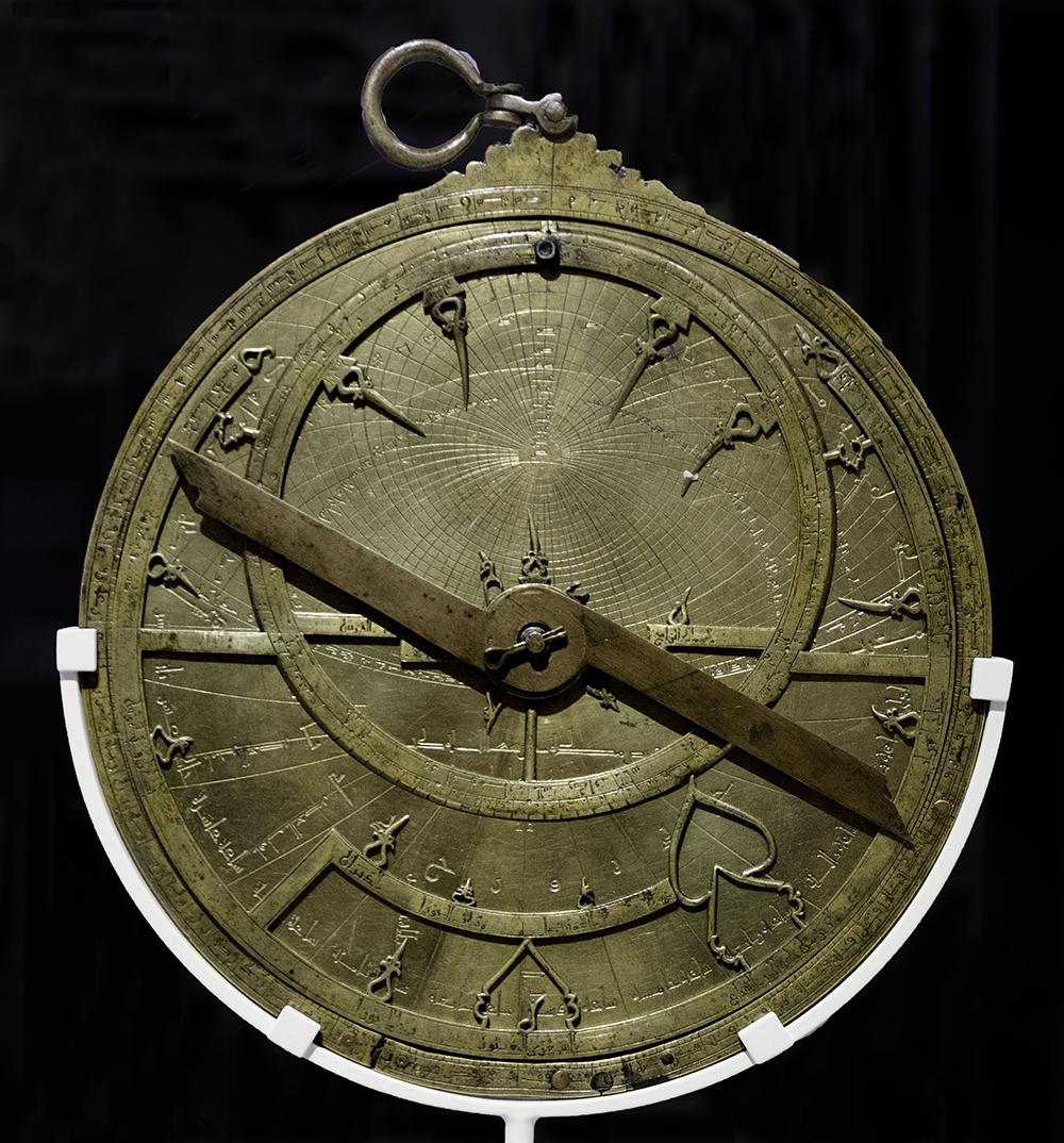 Brass astrolabe made by Ibrahim ibn Saʿid al-Sahli in Toledo, 1067. Photograph by Ángel M. Felicísimo. Flickr (CC BY-SA 2.0).