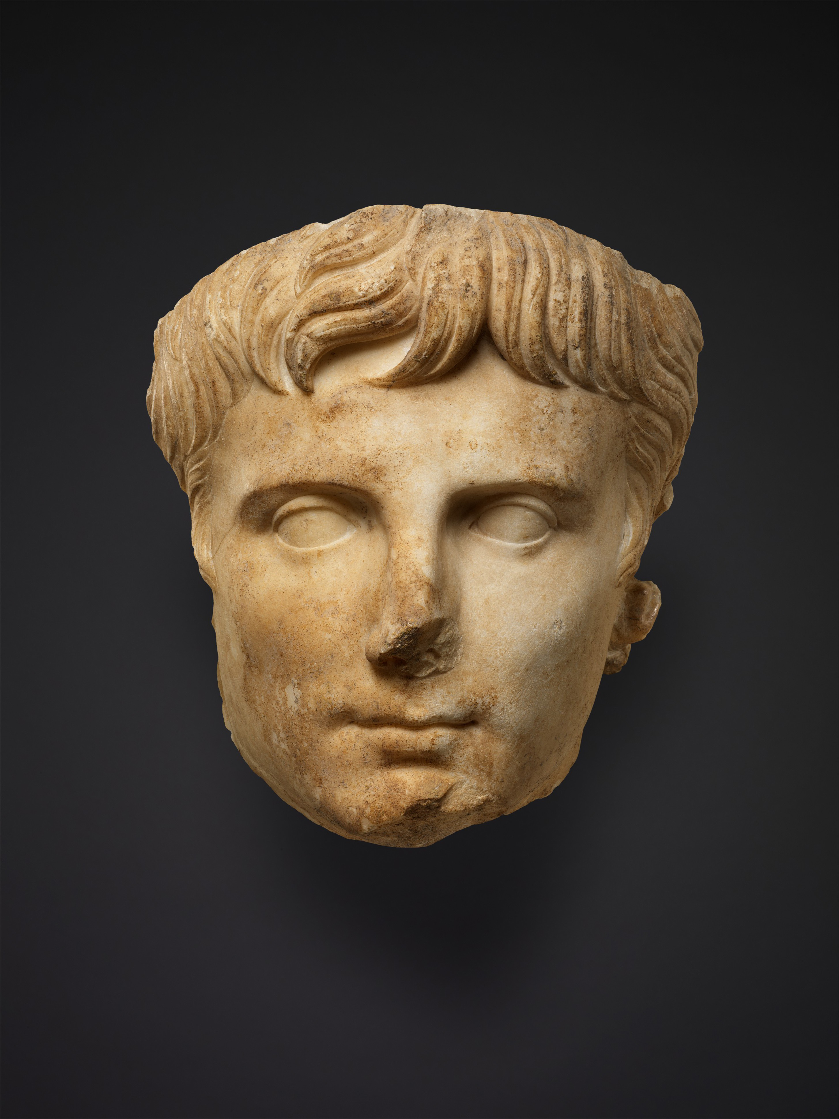 Marble portrait of the emperor Augustus, c. 14. The Metropolitan Museum of Art, Rogers Fund, 1907.