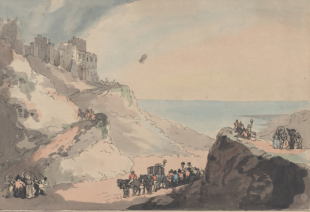 Departure of Blanchard and Jeffries' Balloon from Dover, by Thomas Rowlandson, 1794. The Metropolitan Museum of Art, Gift of Paul Bird, Jr., 1962.