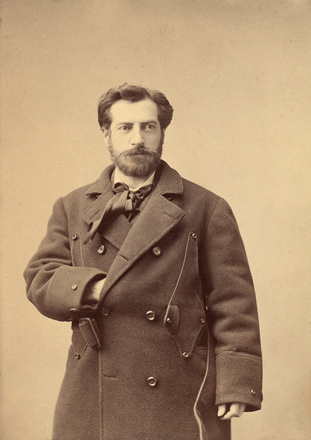 Frederic-Auguste Bartholdi in New York City, 1871. Photograph by Napoleon Sarony. Musée Bartholdi Colmar. Photograph © Christian Kempf.