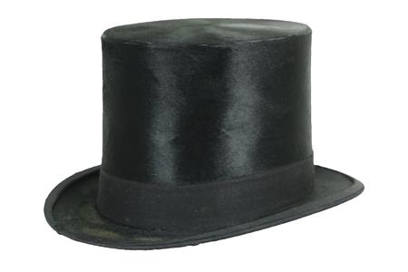 A beaver felt top hat.