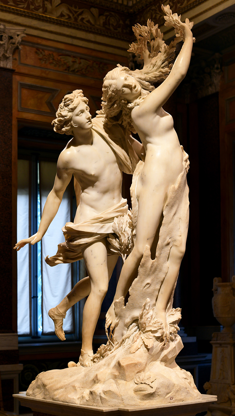Apollo and Daphne, sculpture by Gianlorenzo Bernini, c. 1618–25. Photograph by Architas. Wikimedia Commons (CC BY-SA 4.0).