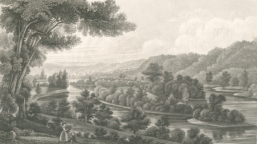 Blennerhassett Island, engraving by Henry Howe. The New York Public Library, The Miriam and Ira D. Wallach Division of Art, Prints and Photographs: Print Collection.