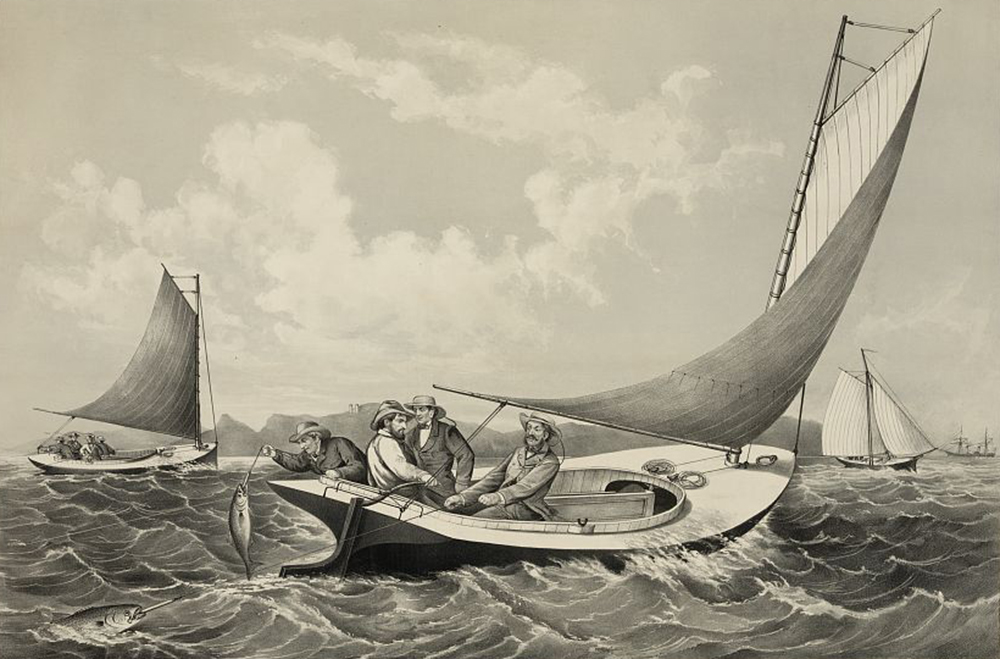 """Trolling for Blue Fish,"" by Frances Flora Bond Palmer, c. 1866. Library of Congress, Prints and Photographs Division."