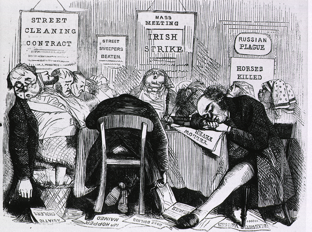 Our New York Board of Health, from Harper's Weekly, 1865. National Library of Medicine.
