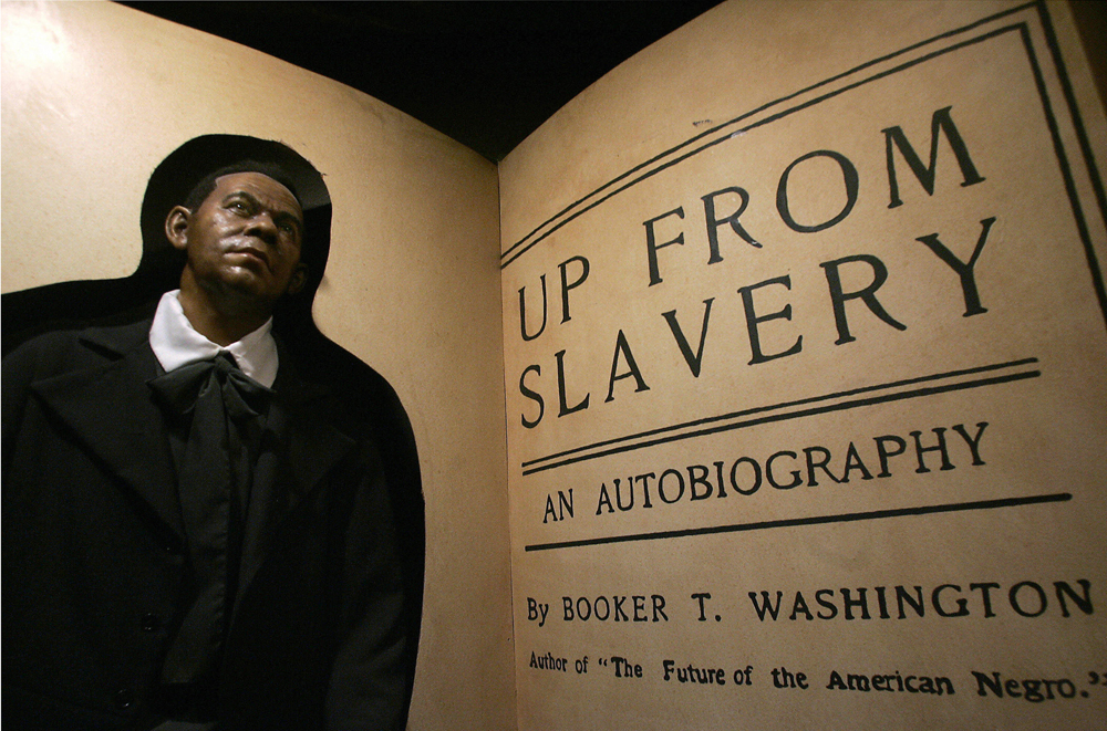 Wax figure of Booker T. Washington, JIM WATSON/AFP/Getty Images.