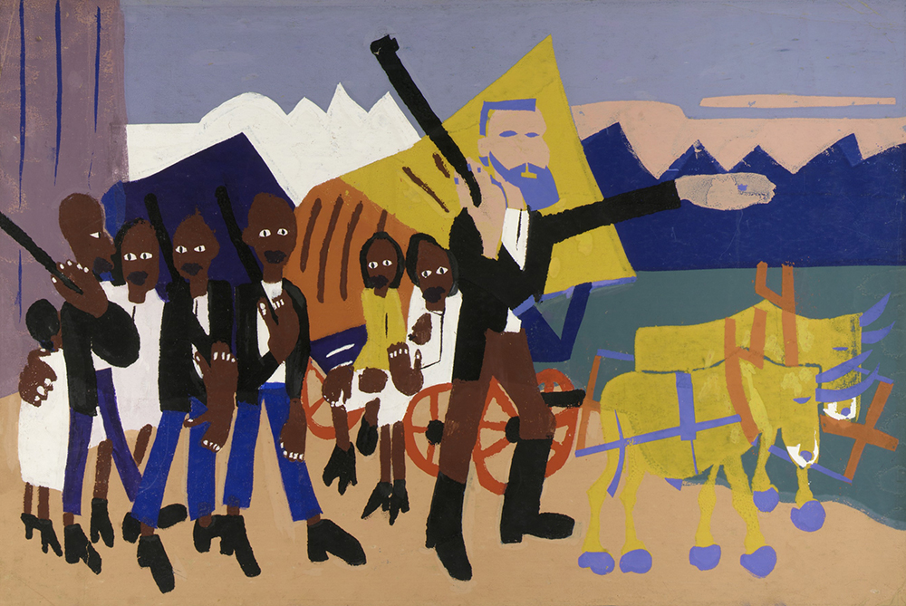 On a John Brown Flight, by William H. Johnson, c. 1945. Smithsonian American Art Museum, Gift of Mrs. Douglas E. Younger.
